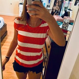 red and white stripe juicy couture top size small